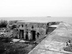 Battery Croghan, Fort San Jacinto, Galveston, Texas 0116101725bw