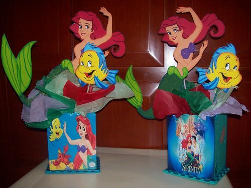 Centros de mesa de La Sirenita Disney - Imagui