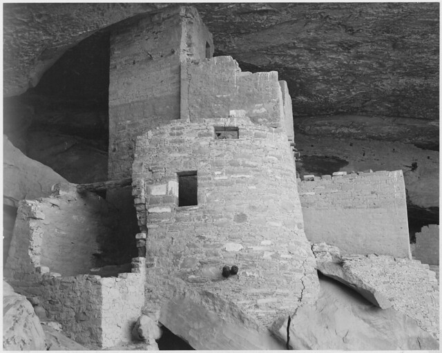 """Section of house, """"Cliff Palace, Mesa Verde National Park,"""" Colorado, 1941."""