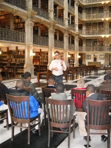 St. Ignatius students learn about Baltimore's Peabody Library