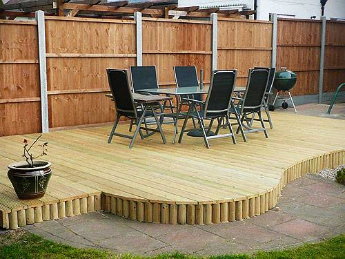 Design plan small garden designs with decking for Small garden design ideas decking