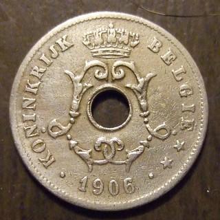 BELGIUM 1906 ---10 CENTS b