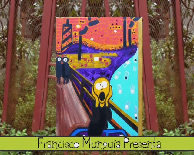 Pintura animada EL GRITO / EL PITO por Munguía