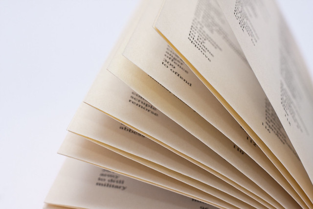 Yellowed pages from a dictionary - Flickr CC horiavarlan