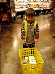 his own style of grocery shopping   P1010039