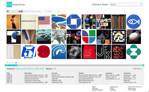 AIGA Design Archives by Second Story