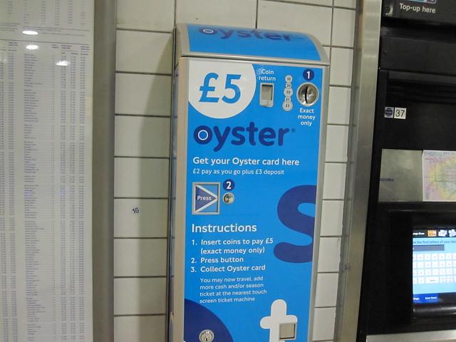 oyster card vending machine