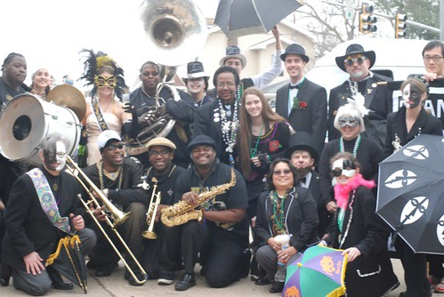 BLanc et Noir Marching Society, Shreveport and the Red & Black Brass Band  by trudeau