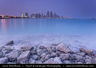 Qatar - Capital City of Doha Corniche and its Cityscape from Doha Bay