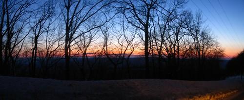 sunset pennsylvania pa blueknob