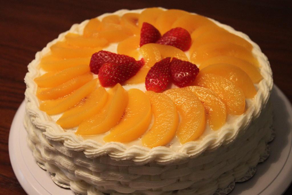 Torta de melocotones...Peach cake