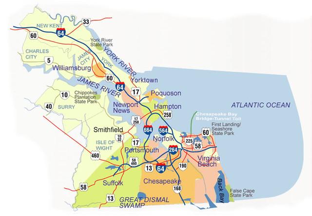 Va TourismHR Map  Explore Hampton Roads Partnership39s
