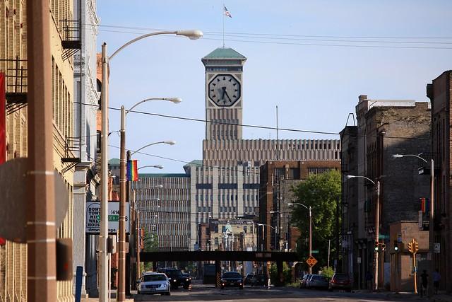 Allen-Bradley Clock Tower as seen looking on South Second Street