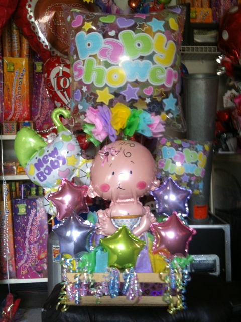 arreglo de globos de baby shower flickr photo sharing