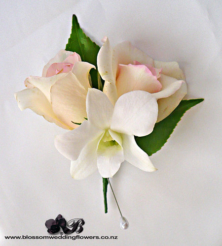 White Rose And Orchid Corsage Pink Rose Orchid Corsage