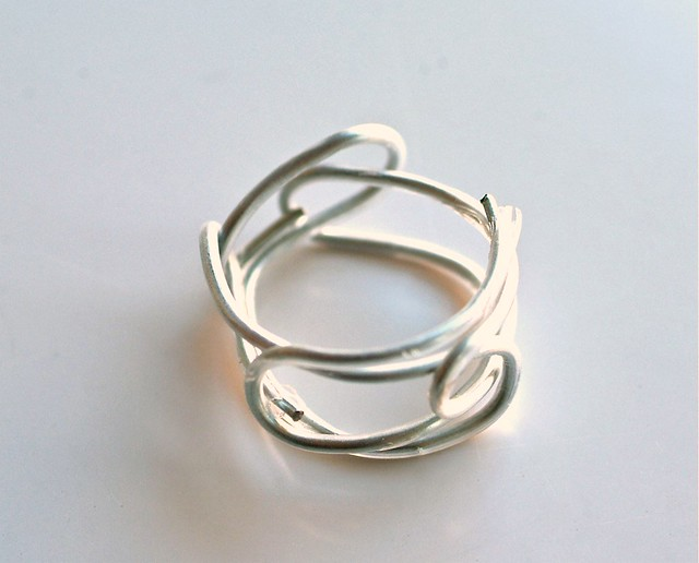 how to make a paper clip ring legend