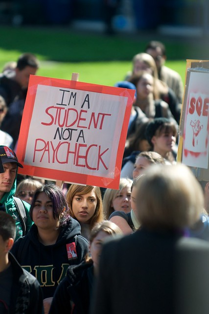 I'm a student, not a paycheck