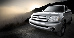 compact sport utility vehicle(0.0), toyota sequoia(0.0), automobile(1.0), automotive exterior(1.0), toyota(1.0), pickup truck(1.0), sport utility vehicle(1.0), wheel(1.0), vehicle(1.0), truck(1.0), toyota tundra(1.0), bumper(1.0), land vehicle(1.0),