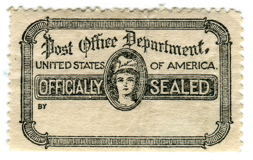 United States Official Stamp: officially sealed by karen horton