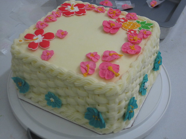 Wilton Cake Class Buttercream Recipe : Wilton Course 2 final cake Flickr - Photo Sharing!