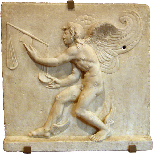 Kairos, Roman copy in relief