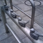 Bird based bike rack