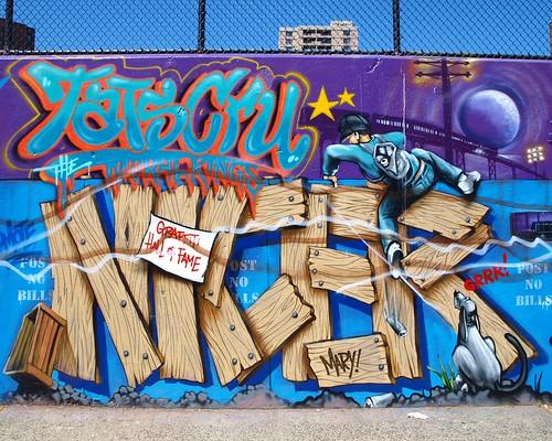 TATS CRU Mural, Graffiti Hall of Fame, Harlem, New York City