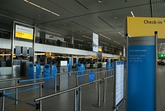 Lege incheckbalies KLM