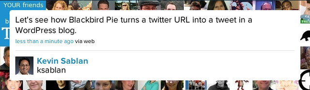 Snapshot of tweet preview on Blackbird Pie