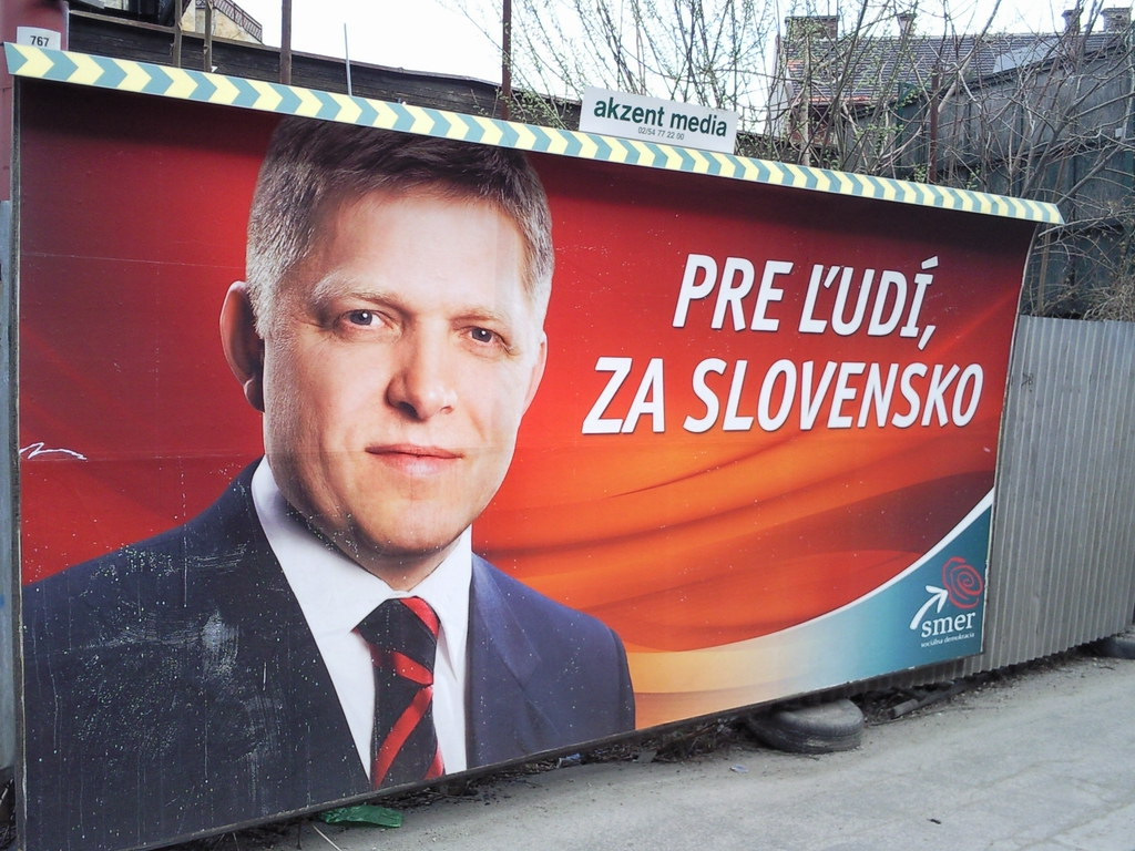 Wahlplakat in der Slowakei