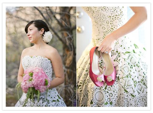 Vestidos de noiva em crochê
