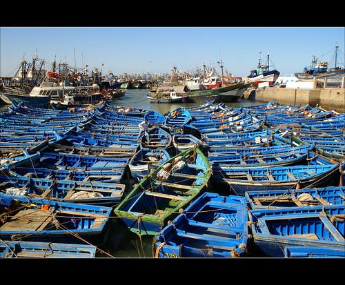 blue haven boats blauw harbour boten explore morocco maroc monday frontpage marokko hbm blueboats vissersboten abigfave atsjebosma happybluemonday