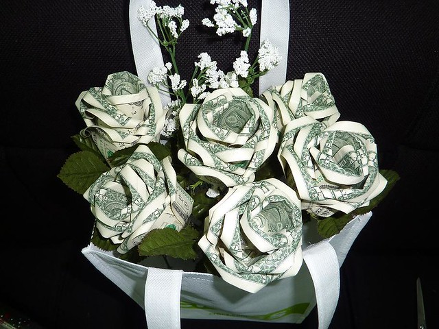 Origami Dollar Bow Tie