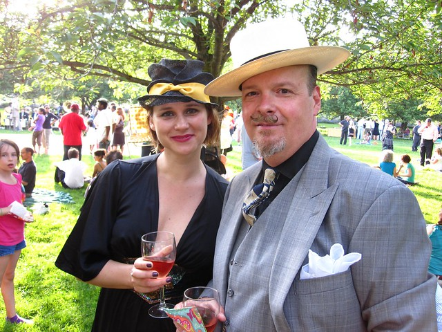 Pistol Pete and a lovely lady friend enjoy BBG Member's Centennial Evening. Photo by Rebecca Bullene.