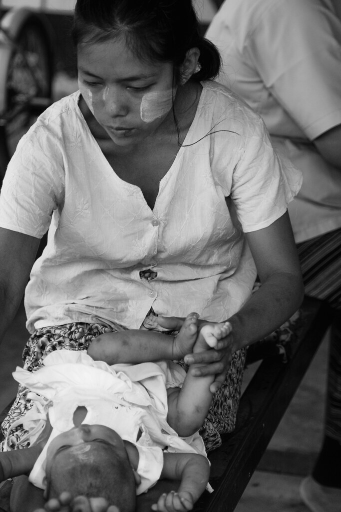 A Burmese Mother At Mae Tao Clinic