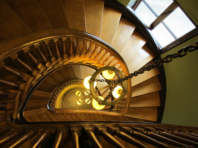 Spiral Staircase in Handley Library, Winchester VA | Flickr - Photo ...