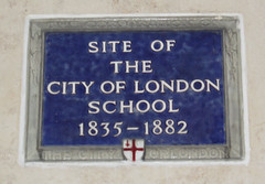 Photo of City of London School blue plaque