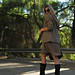 trees+boots+cat eye sunglasses+walking+road+long blonde hair+fashion+outfit+blogger+clothes+street style