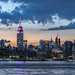 Williamsburg view of Manhattan Empire State Building in red, white and blue by NYC♥NYC