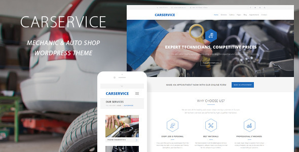 Car Service v4.0 – Mechanic Auto Shop WordPress Theme