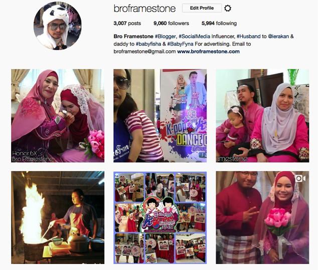 Instagram Bro Framestone