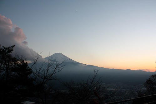 Sunset with Mt Fuji (2)
