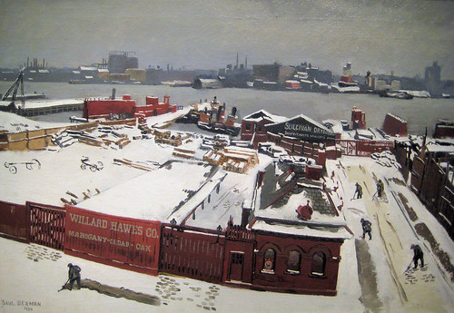 River Front painting - 1934 New Deal Painting at Smithsonian American Art Museum