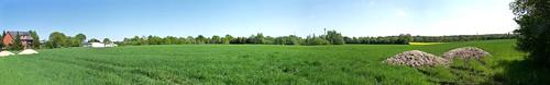 panorama green nature field view natur feld