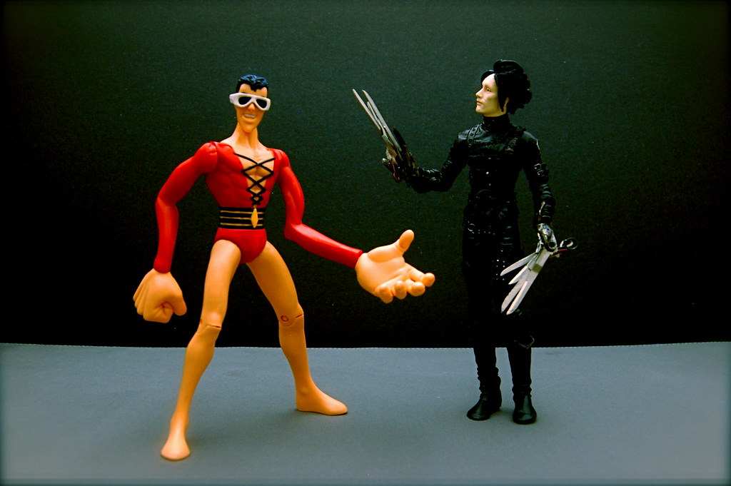 Plastic Man vs. Edward Scissorhands (12/365)