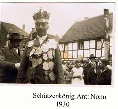 1930, Schützenkönig Anton Nonn, SW025