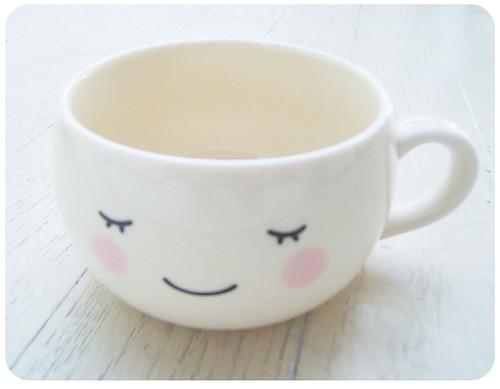 White Kawaii Cute Face Mug Cup Fuwa Flickr Photo Sharing