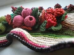 Crataegus Monogyna ... Freeform Crochet Cuff