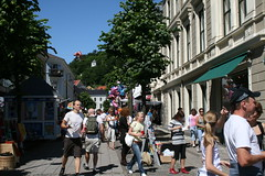 Shopping in the pedestrian area in Arendal 2007