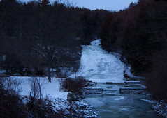 Buttermilk Falls in Winter
